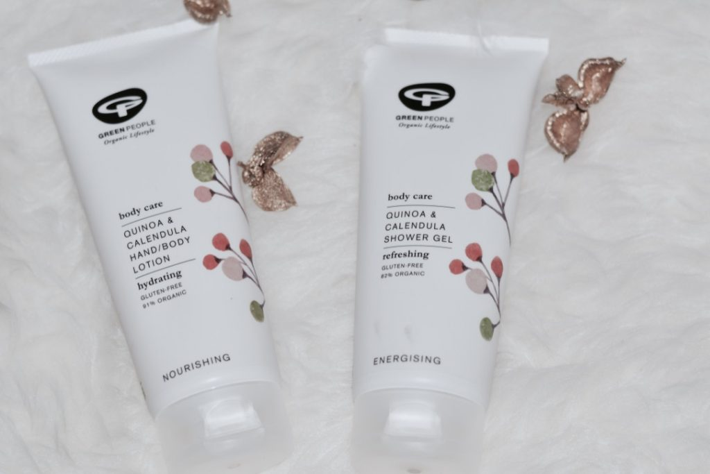 green people quinoa and calendula shower gel body lotion review